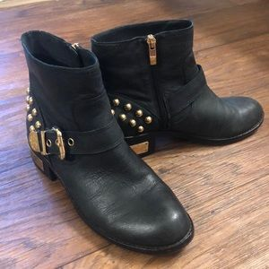 Vince Camuto Black Windetta Studded Ankle Boot